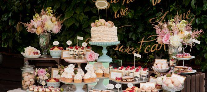 Ideas para una mesa de dulces para boda, baby shower y más