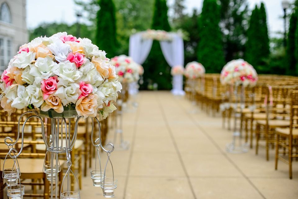 Decoración de bodas con flores