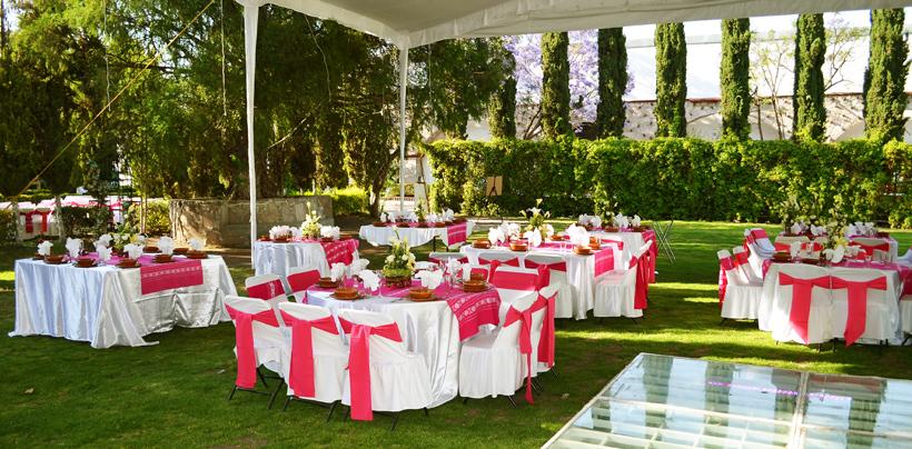 Salón o jardín para fiestas